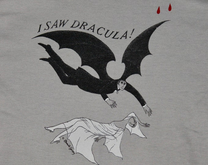 S * vtg 70s EDWARD GOREY art bram stokers Dracula play t shirt * 30.150 horror monster