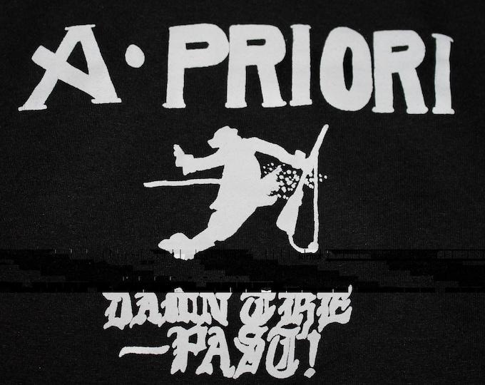 M/L * thin vtg 80s 1988 A Priori t shirt * punk jawbreaker crimpshrine * medium large * 104.21