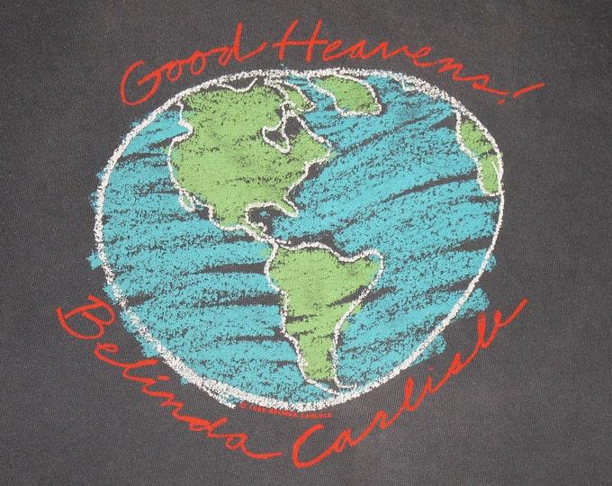 L * vtg 80s 1988 Belina Carlisle tour t shirt * the go-gos * 63.174