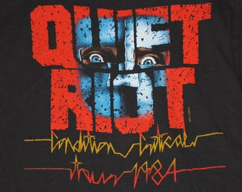 S/M * vtg 80s 1984 Quiet Riot condition critical tour t shirt * 106.16