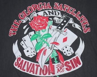 L * vtg 1990 The Georgia Satellites salvation and sin British tour t shirt * 108.29