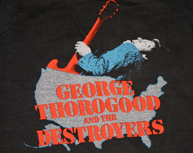 XS * thin vtg 80s 1981 George Thorogood and the Destroyers tour t shirt * 61.140