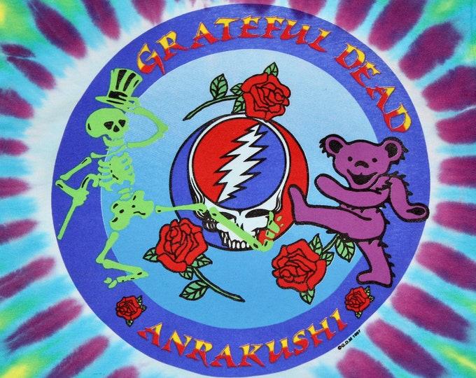 S * NOS vtg 90s 1997 Grateful Dead tie dye t shirt