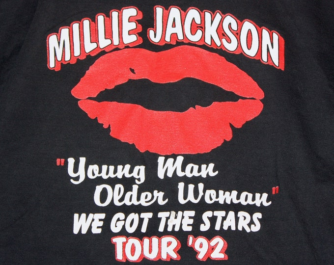 XL * vtg 90s 1992 Millie Jackson tour t shirt * r&b soul disco rap * 101.3
