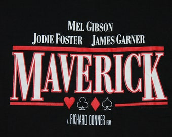 L * NOS vtg 90s 1994 MAVERICK promo movie t shirt * 73.123