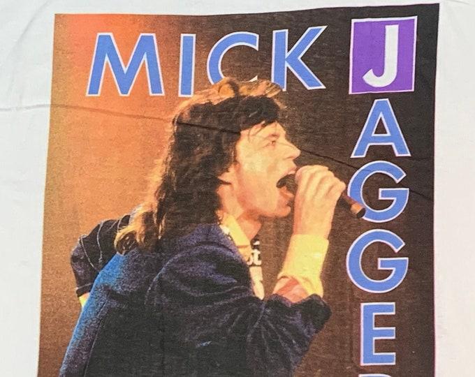L * nos vtg 80s 1988 Mick Jagger australia tour t shirt * concert rolling stones