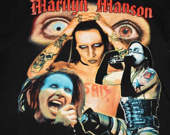 L/XL * vtg 90s Marilyn Manson t shirt * 100.12 euro tour boot