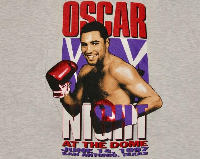 XL * vtg 90s 1997 Oscar de la Hoya San Antonio t shirt * 31.143