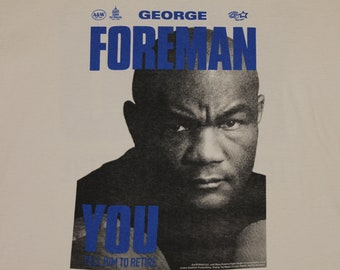 XL * vtg 90s George Foreman boxing t shirt * 97.17