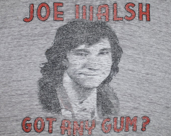 L * BURNOUT thin vtg 80s 1987 Joe Walsh got any gum t shirt * the eagles james gang * 107.23