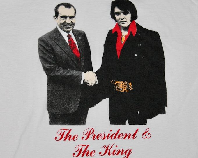 L * vtg 90s The President & The King t shirt * punk * 15.150