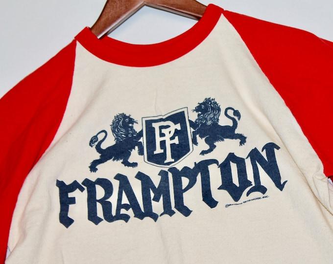 M * vtg 70s 1976 Peter Frampton comes alive era raglan t shirt jersey * 48.144
