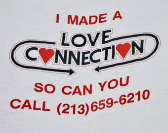 M * vtg 80s Love Connection game show tv t shirt * 54.179