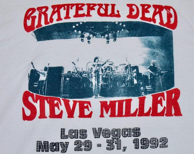 3XL * vtg 90s 1992 Grateful Dead x Steve Miller Band concert tour t shirt * 24.178