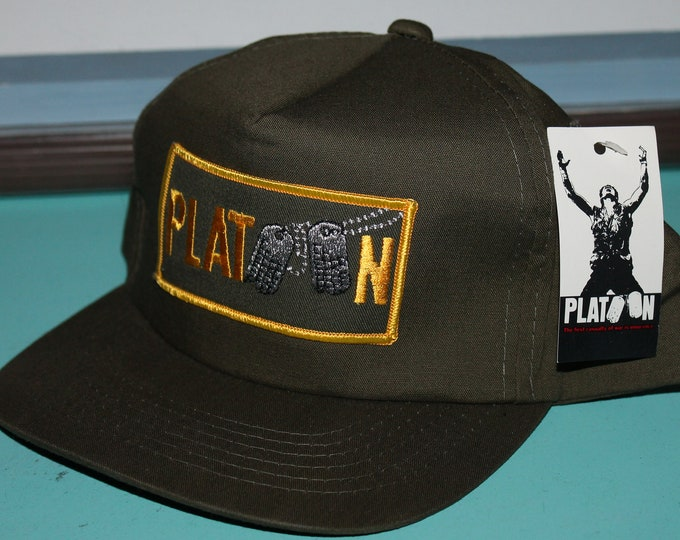 NOS vtg 80s 1986 PLATOON movie promo snapback hat