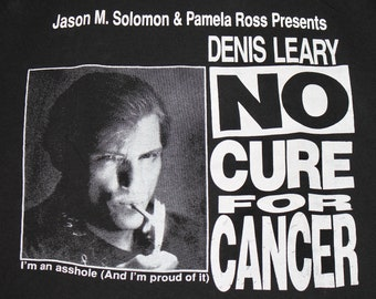 XL * vtg 90s 1992 Denis Leary no cure for cancer comedian concert tour t shirt * 106.14