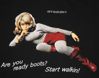XL * vtg 90s 1995 Nancy Sinatra boots are made for walkin t shirt * 62.168 mod gogo