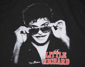 XL * vtg 1990 Little Richard tour t shirt * screen stars * 106.18