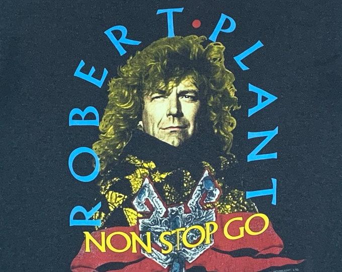 M * thin vtg 80s 1988 Robert Plant tour t shirt * concert led zeppelin * 51.142
