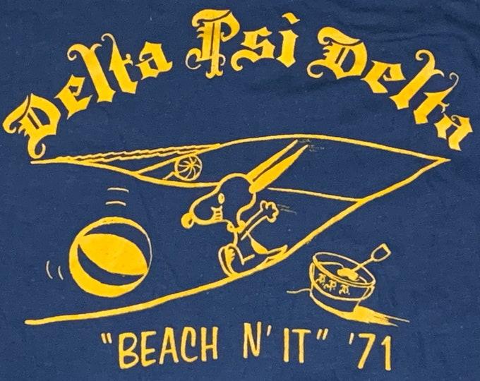 S * vtg 70s 1971 Fraternity / Sorority pocket t shirt * 67.125