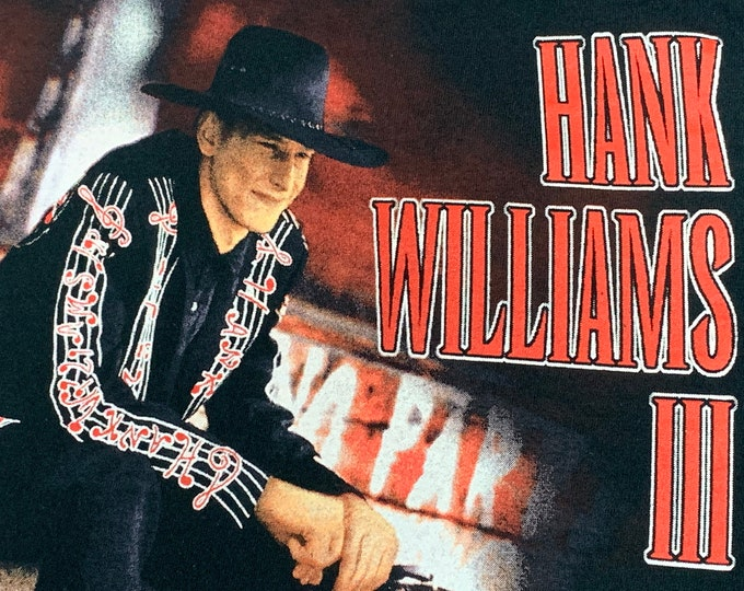 S * vtg 90s 1995 Hank III t shirt * tour williams 3 outlaw country assjack superjoint ritual * 106.35
