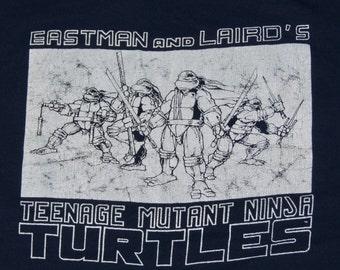 M * thin vtg 80s 1987 Teenage Mutant Ninja Turtles eastman and laird mirage comic book t shirt * 7.169