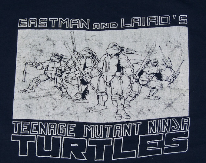 M * thin vtg 80s 1987 Teenage Mutant Ninja Turtles eastman and laird mirage comic book t shirt * 7.169