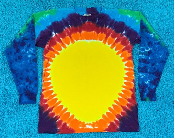 S * nos vtg 90s tie dye single stitch t shirt * 76.135