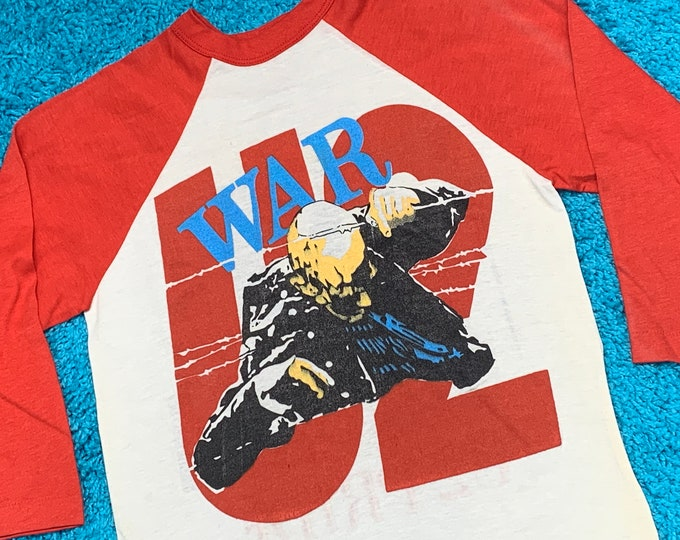 XS * U2 war / pride raglan tour t shirt * 86.96