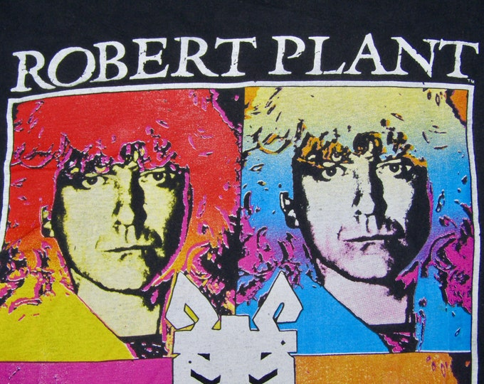 M * faded vtg 1990 Robert Plant tour t shirt * led zeppelin * 7.173