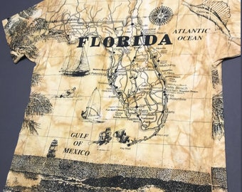 XXL vintage 90s 1992 all over print Florida t shirt * 54.164