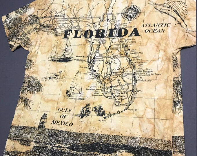 XL vintage 90s 1992 all over print Florida t shirt