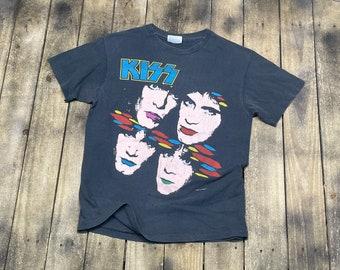 S * vintage 80s KISS Asylum tour 1985 1986 t shirt * 68.163 band army concert