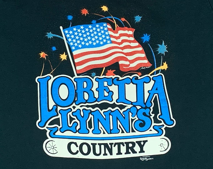 M * vtg 90s Loretta Lynn t shirt * classic country music tour * 9.158