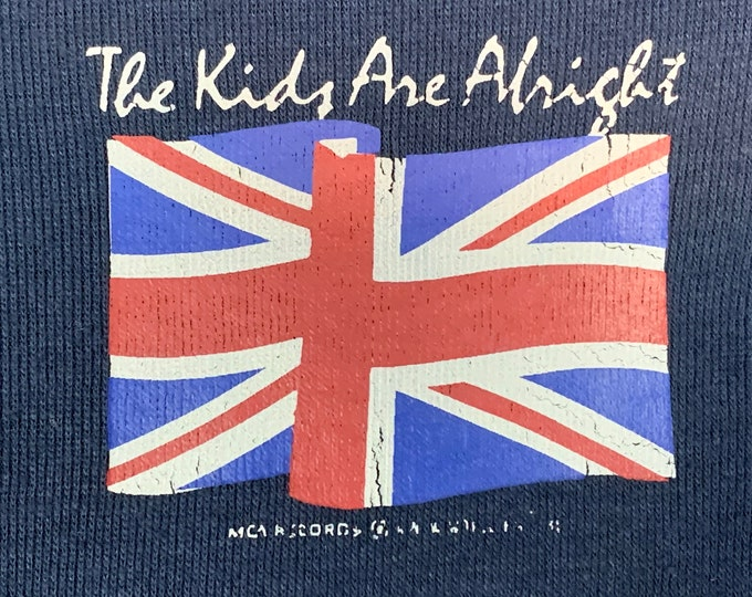 XS * vtg 70s 1979 The Who the kids are alright MCA Records promo t shirt * movie tour * 34.175