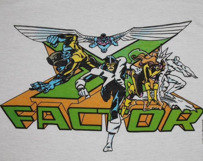 L/XL * NOS vtg 80s 1989 X FACTOR marvel comic t shirt * 97.28