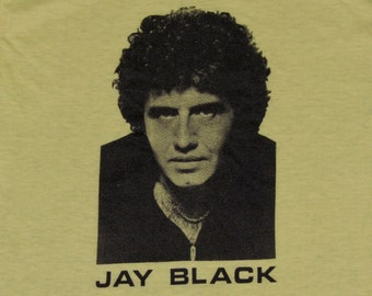 2XS * vtg 70s Jay Black jay and the americans t shirt * 41.178 concert tour xxs