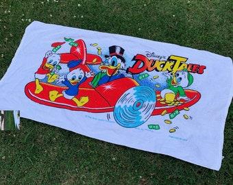vtg 80s DuckTales disney beach towel * cartoon tv show movie
