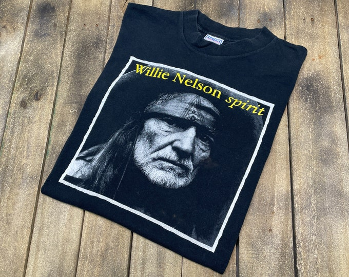 XL * vtg 90s 1998 Willie Nelson spirit/teatro single stitch t shirt * 88.86