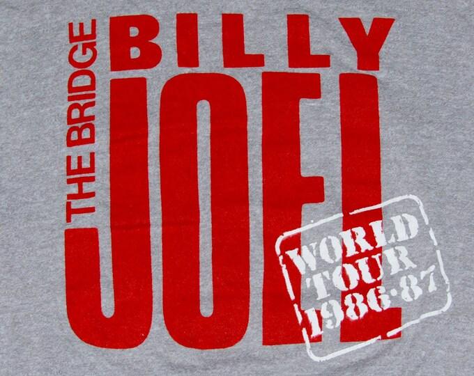 S * vtg 80s 1986 1987 Billy Joel concert tour t shirt * 6.173