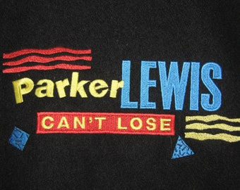 M/L * NOS vtg 90s 1991 1992 Parker Lewis Can't Lose tv show cast & crew letterman jacket * P1.85 medium large