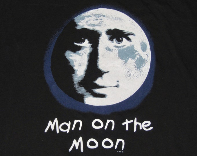 XL * vtg 90s jim carrey Man On The Moon andy kaufman movie t shirt * 16.117 rem