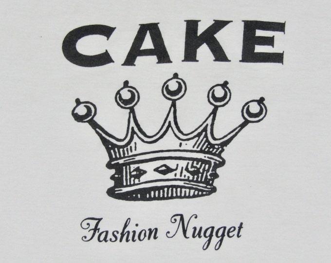 XL * vtg 90s 1996 CAKE Fashion Nugget t shirt * 90.52