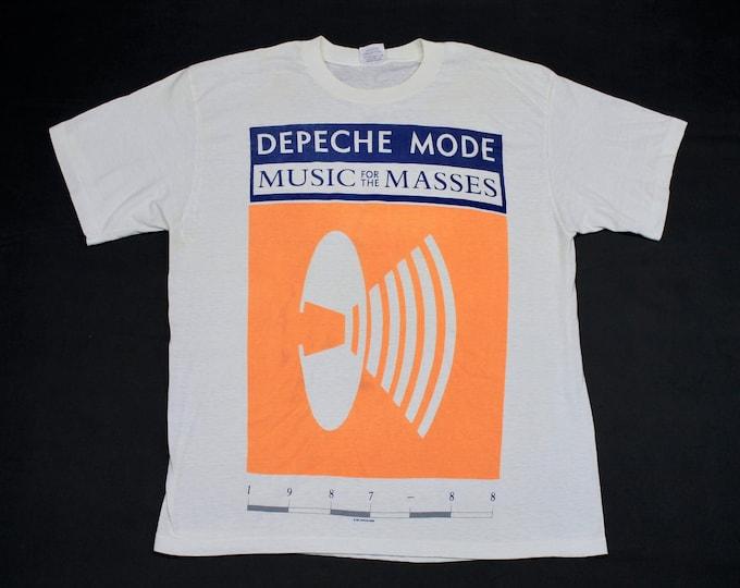 L/XL * thin vtg 80s 1987 Depeche Mode music for the masses tour t shirt * 94.61