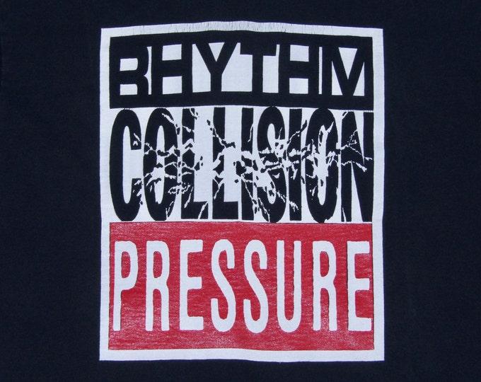 L * vtg 90s 1991 Rhythm Collision t shirt * punk dr strange records * 27.183
