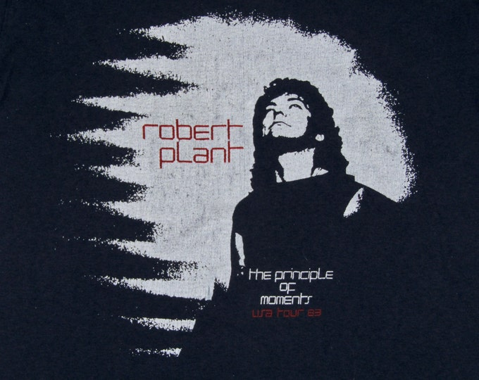 S * vtg 80s 1983 Robert Plant concert tour t shirt * led zeppelin * 79.118