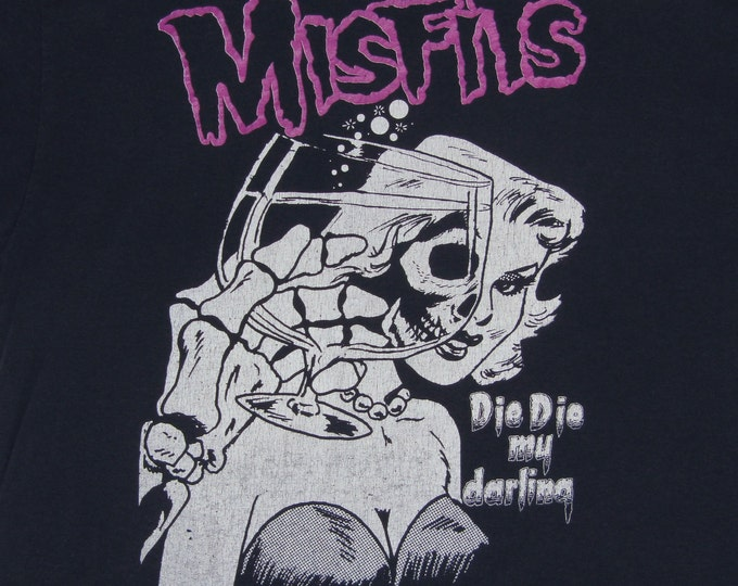 L * thin vtg 80s the Misfits die die my darling t shirt * horror punk danzig * 1.134