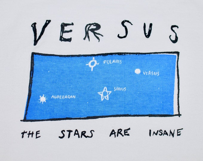 XL * vtg 90s Versus the stars are insane t shirt * indie band teenbeat caroline records * 49.127