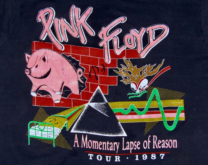 M * thin vtg 80s Pink Floyd a momentary lapse of reason tour t shirt * 13.162
