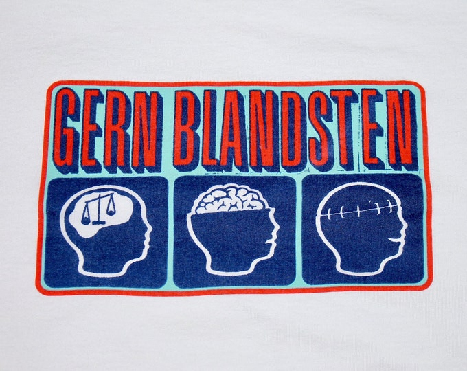 XL * vtg 90s Gern Blandsten record label t shirt * canyon chisel rye coalition ted leo weston the van pelt * 53.126